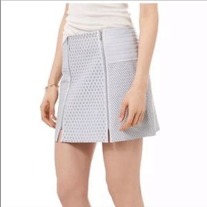 Rebecca Taylor Gray Perforated Leather mini skirt